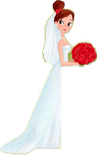 Save the date october. Bride clipart walk down aisle