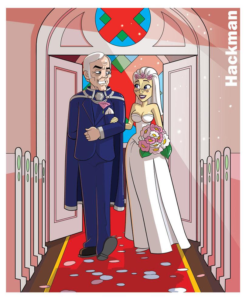 Bride clipart walk down aisle. Walking the by lordhadrian