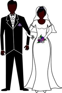 Bride clipart walk down aisle. Marriage image and groom