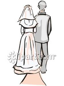 A and father walking. Bride clipart walk down aisle