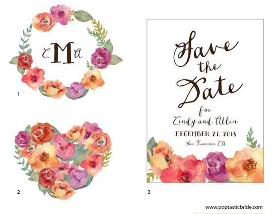 Bride clipart watercolor. Diy wedding design resources