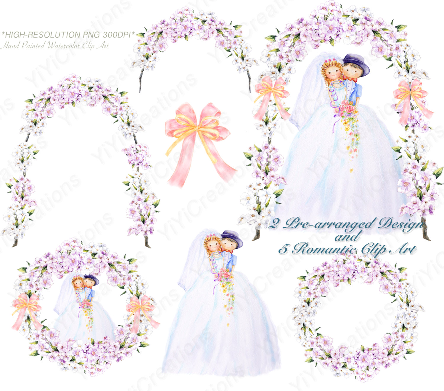 Bride clipart watercolor. Wedding clip art and