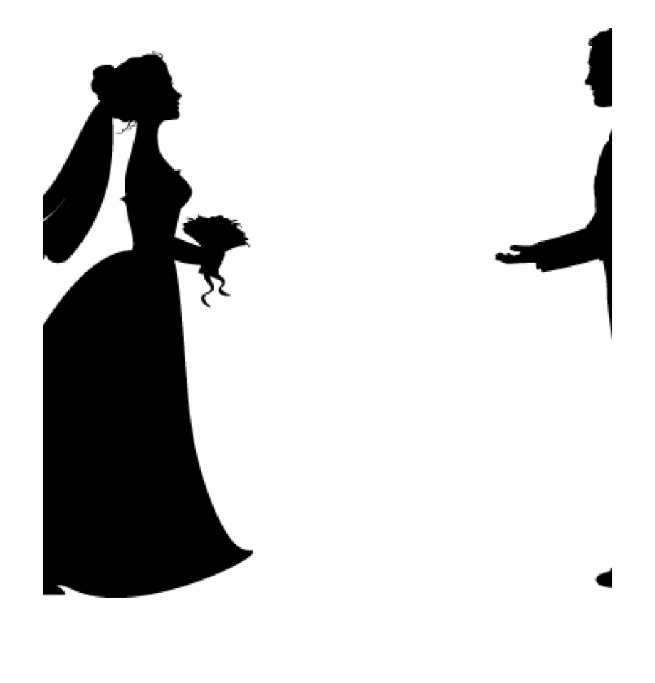 Bride clipart wedding. And groom silhouette