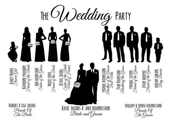 Bridal party . Bride clipart wedding reception