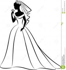 Bride clipart wedding. White dress digital for