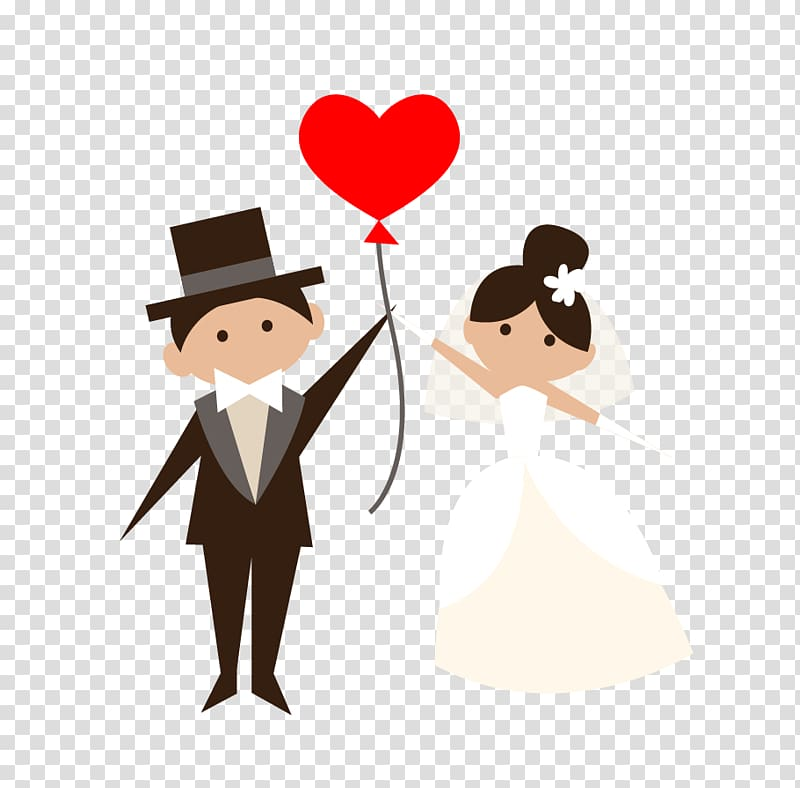 Woman and man illustration. Groom clipart love proposal