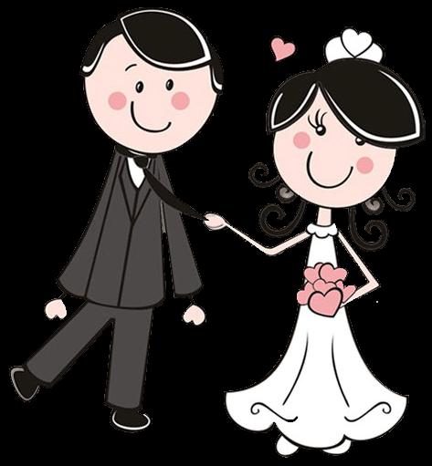 Dibujos digi stamps wedding. Bridal clipart cute