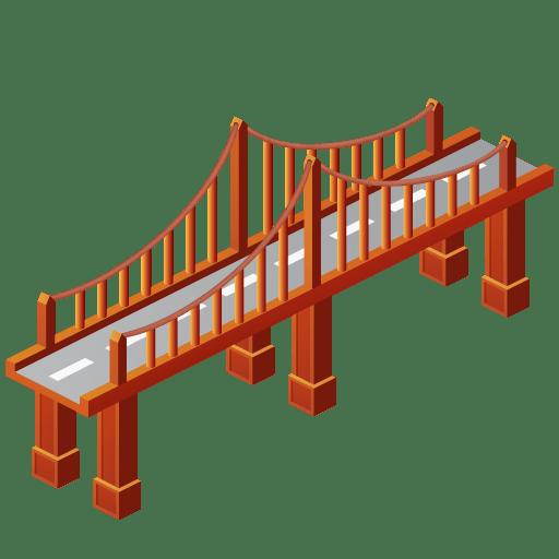 Bridge clipart. Transparent png stickpng