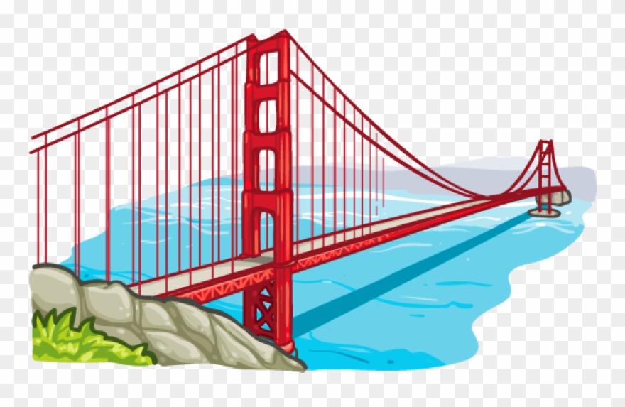 Bridge clipart. Golden gate place png