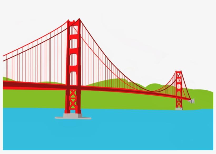 Golden gate drawing clip. Bridge clipart
