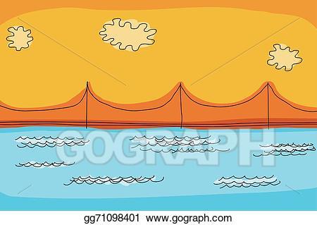 Bridge clipart abstract. Eps illustration suspension vector