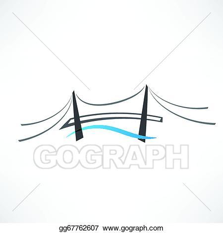 Bridge clipart abstract. Vector stock road icon
