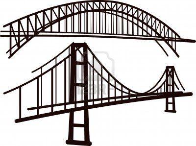Bridge clipart black and white.  best clip art