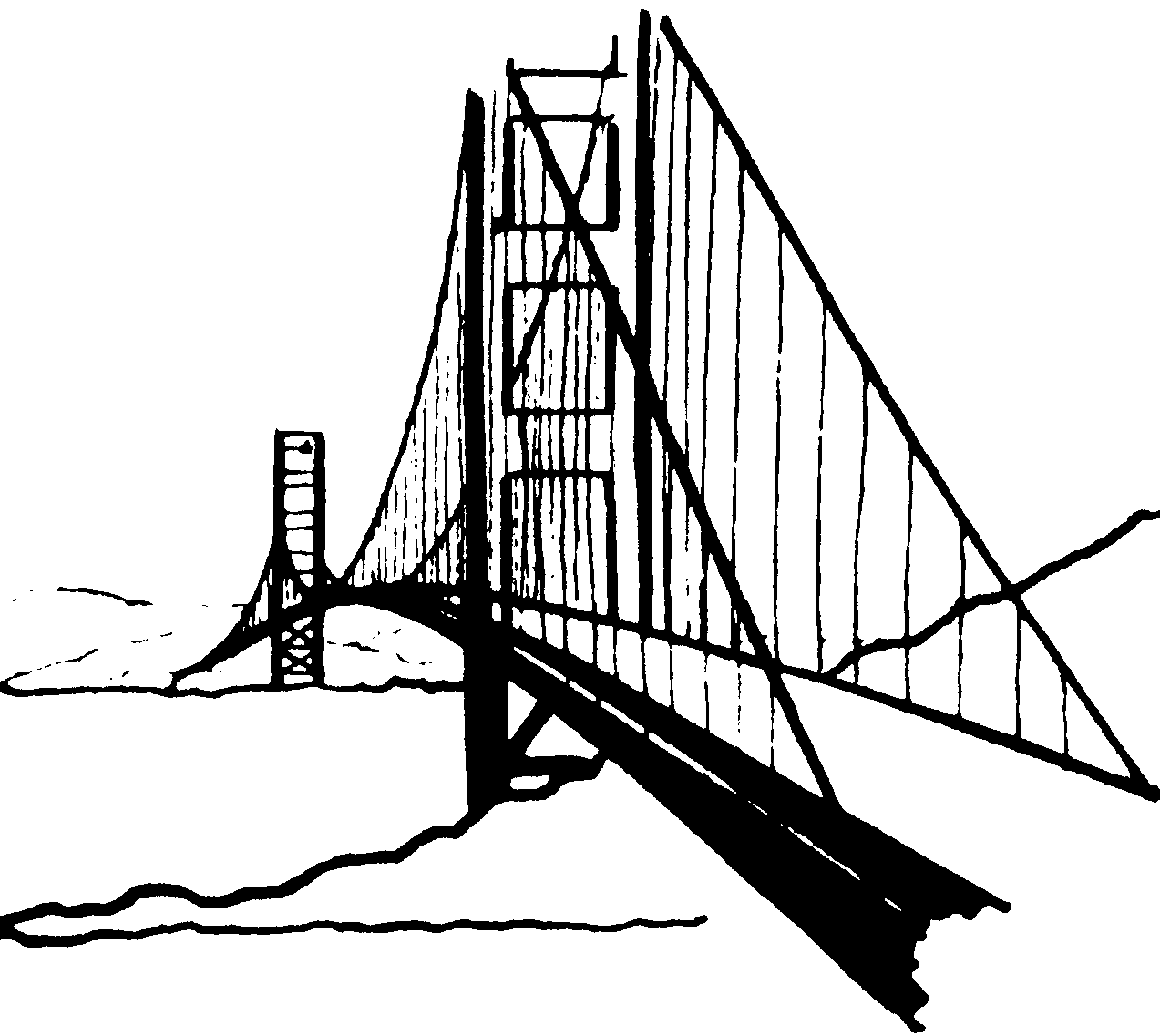 bridge clipart black and white