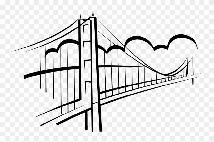 Pin broken clip art. Bridge clipart black and white