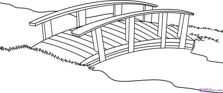 Bridge clipart black and white. Pencil in color