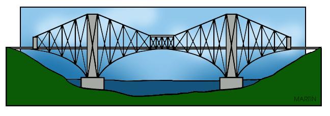 Bridge clipart cantilever bridge. Architecture clip art by