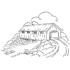 collection of drawing. Bridge clipart covered bridge