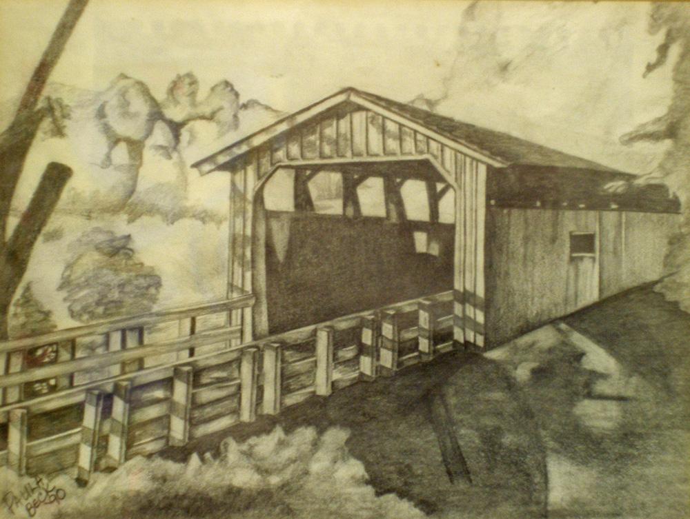Drawing at getdrawings com. Bridge clipart covered bridge