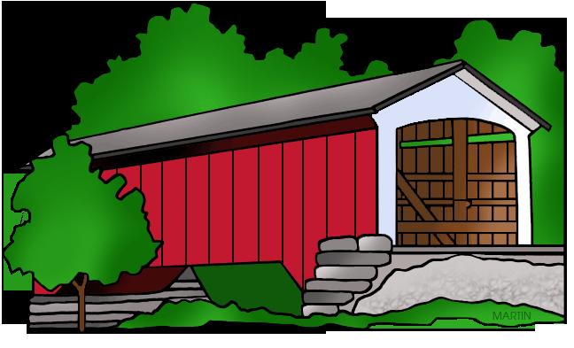 United states clip art. Bridge clipart covered bridge