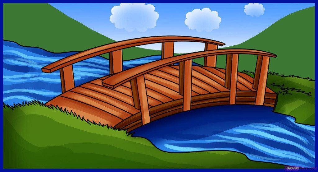 Bridge clipart creek. Press talk don t
