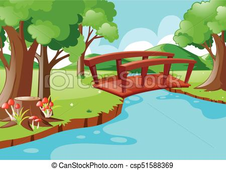 River crossing clipartxtras nature. Bridge clipart creek