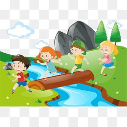 River png images vectors. Bridge clipart creek