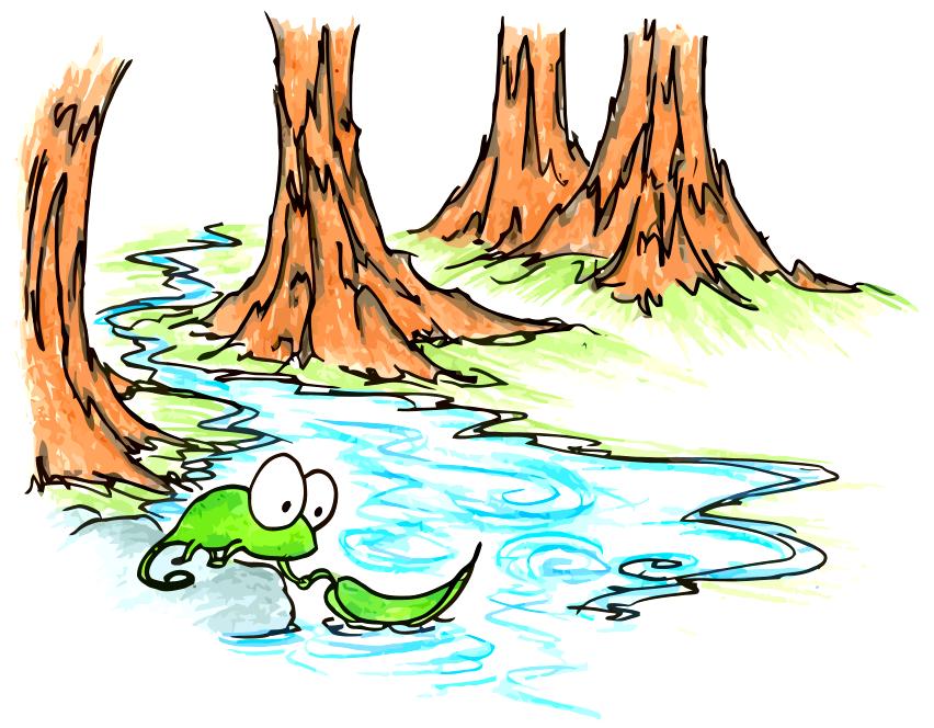 Drawings . Bridge clipart creek