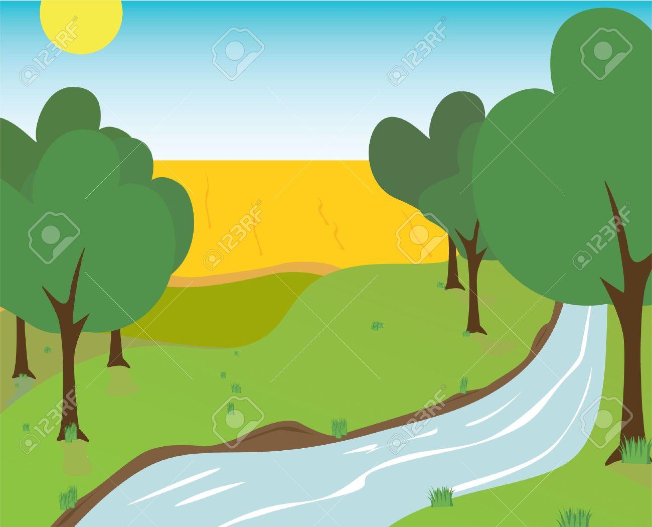 Bridge clipart creek. River stream clipground clip