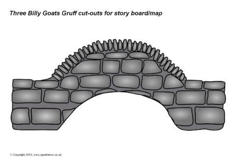 Bridge clipart cut out. Three billy goats gruff