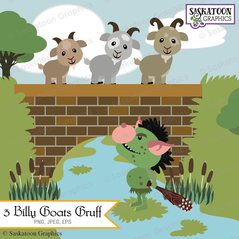 Bridge clipart cute. Three billy goats gruff
