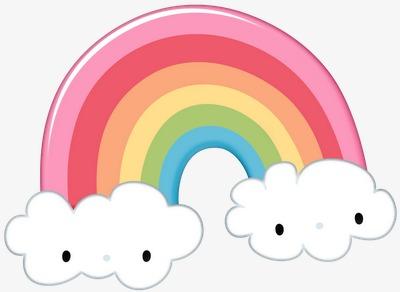 Rainbow smile japanese png. Bridge clipart cute
