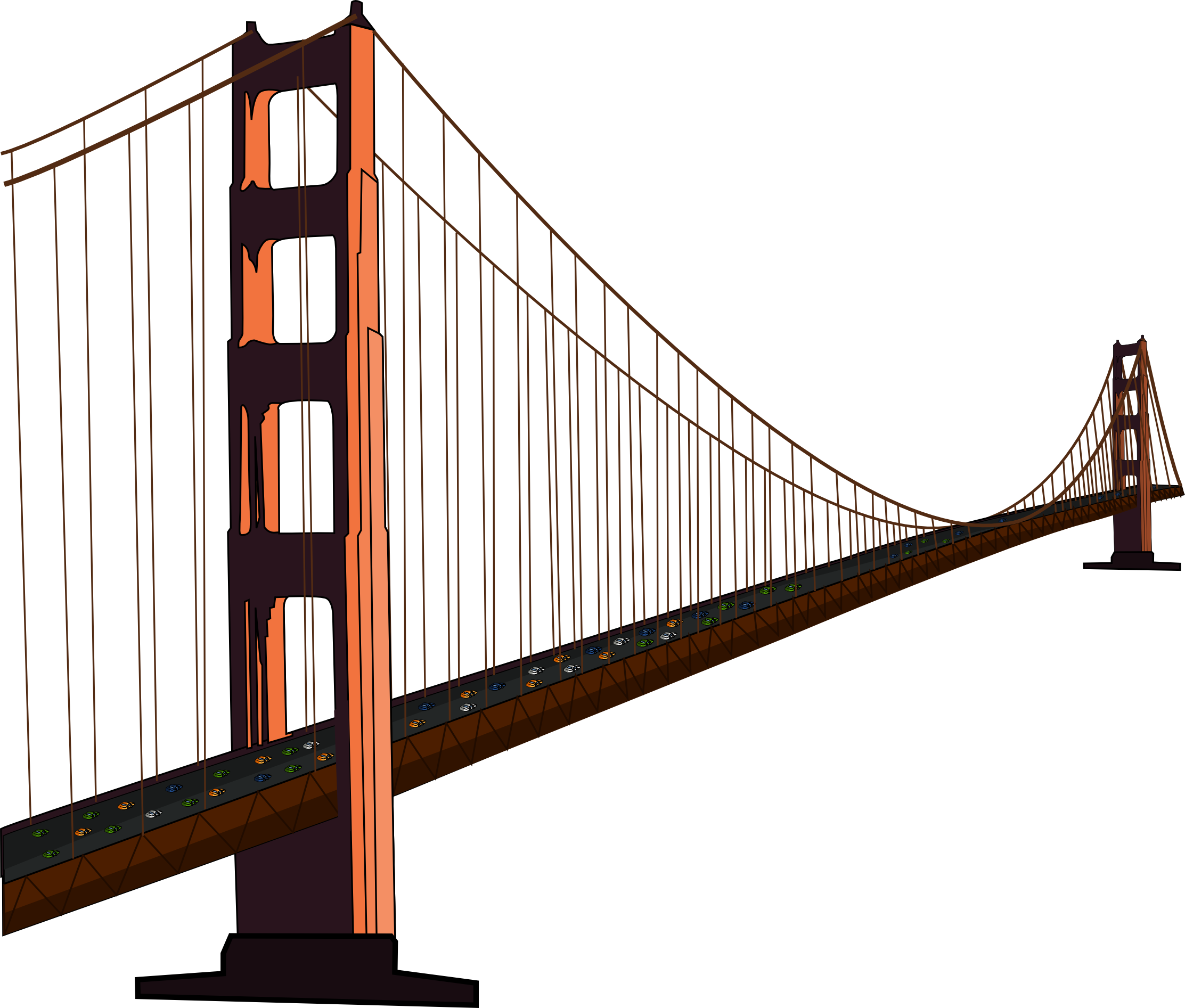 Free golden gate clip. Puzzle clipart bridge