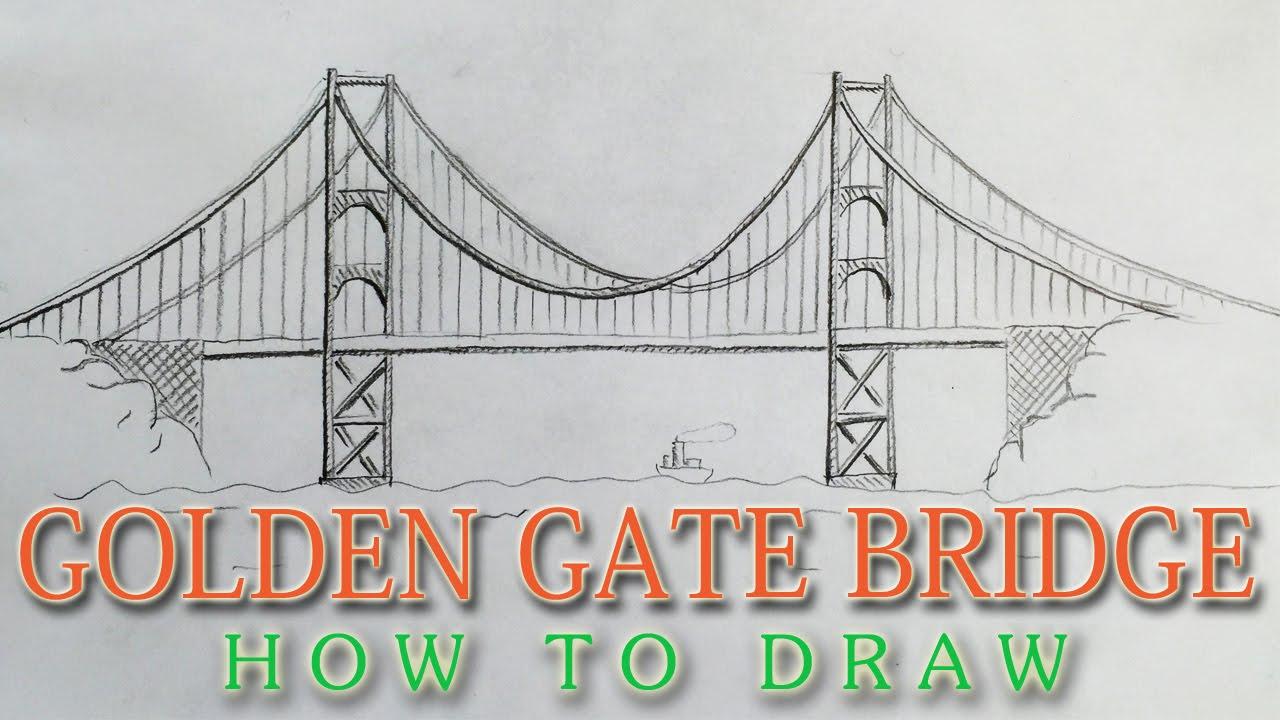 Bridge clipart easy. Simple drawing at getdrawings