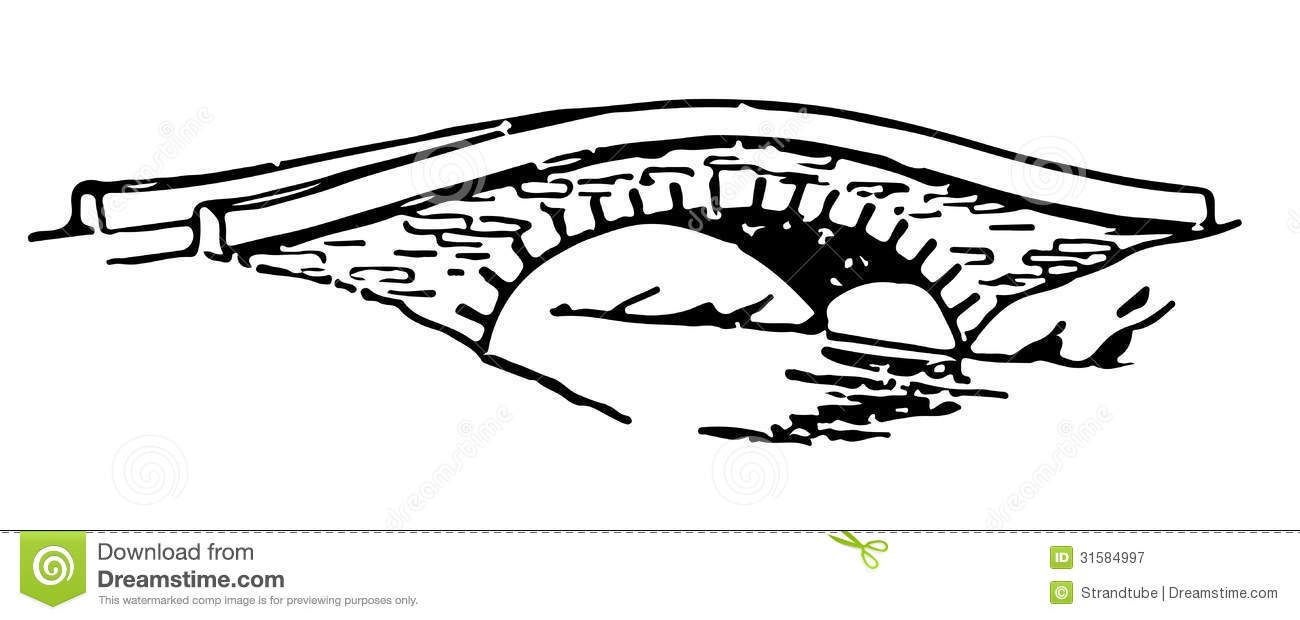 Bridge clipart easy.  collection of drawing