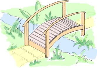 Bridge clipart easy. Diy building plans all
