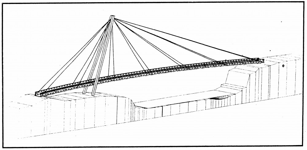 Drawn free pedestrian details. Bridge clipart footbridge