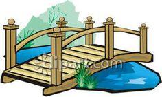 Stream clip art rf. Bridge clipart footbridge