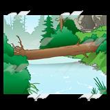 Abeka clip art log. Bridge clipart forest
