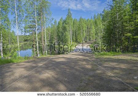 Bridge clipart forest. Dirt road river free