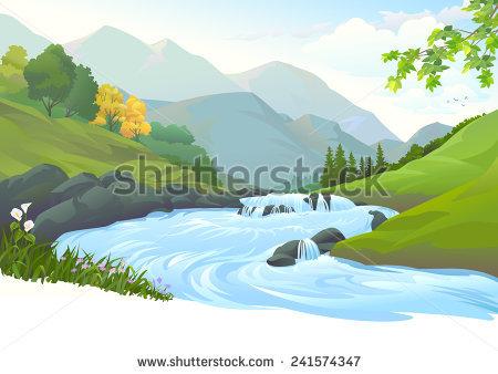 River landscape free collection. Bridge clipart forest