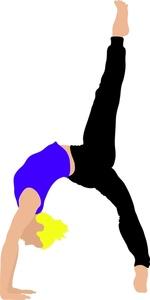 Bridge clipart gymnastics. Gymnast image athletic young