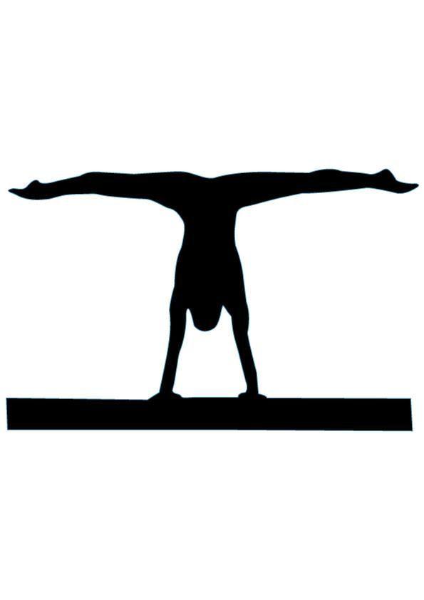 Bridge clipart gymnastics.  best silhouettes images