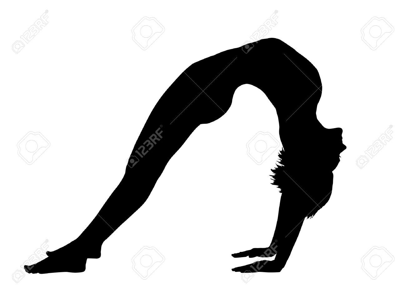 Bridge clipart gymnastics. Silhouette at getdrawings com