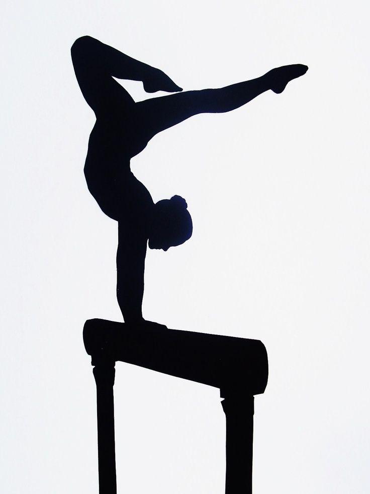 Bridge clipart gymnastics. Custom full body silhouette
