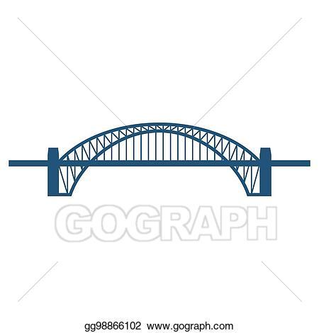Vector art sydney harbour. Bridge clipart icon