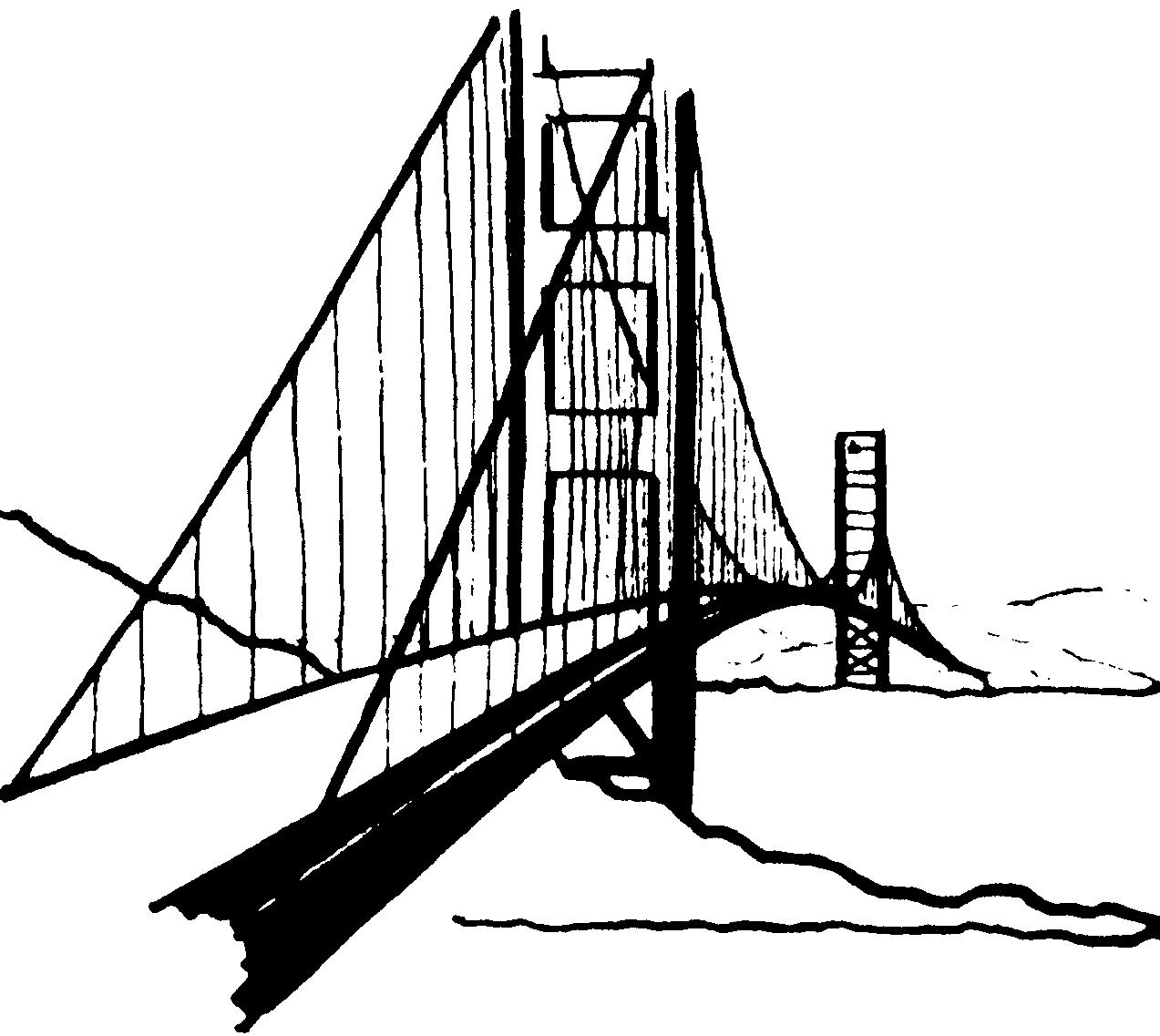 Bridge clipart line art. Free cliparts download clip
