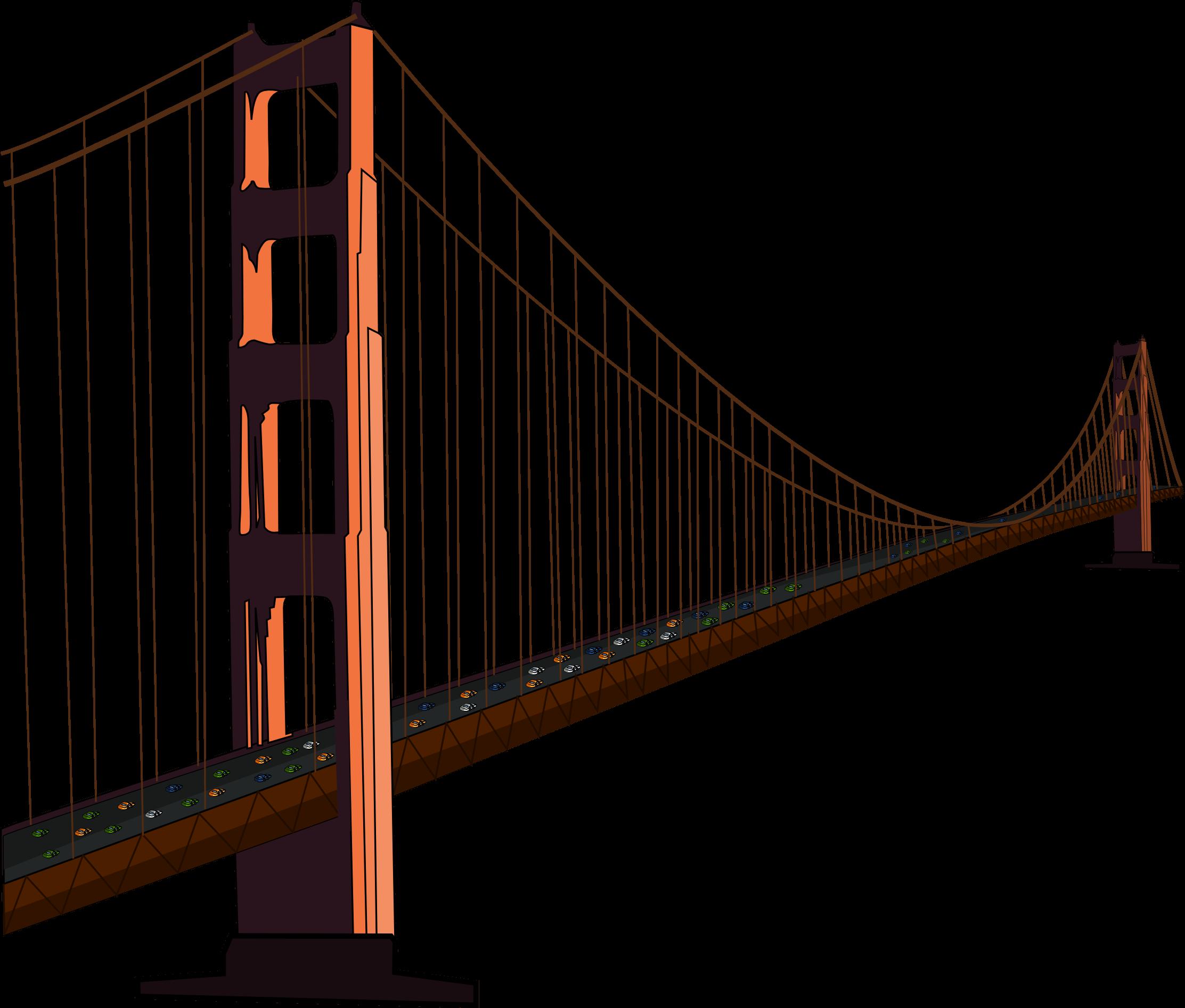 Simple california cliparts golden. Bridge clipart outline