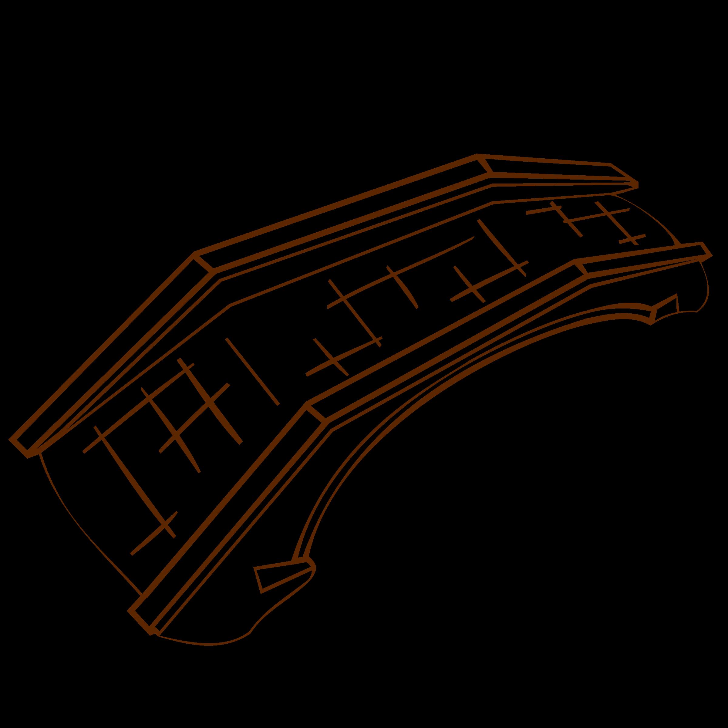 Bridge clipart outline. Rpg map symbols stone