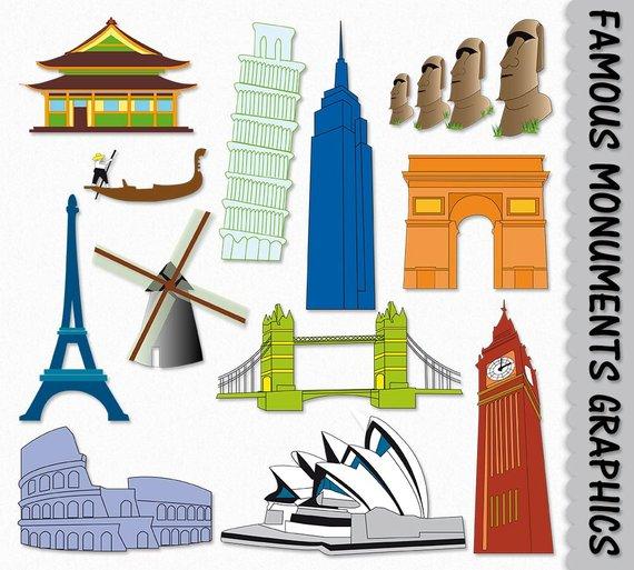 Irish clipart landmarks. Famous landmark graphic place